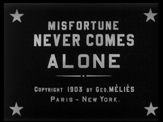 Misfortune never comes alone movie title