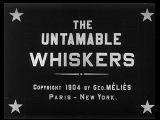 The untamable whiskers (1904) movie title