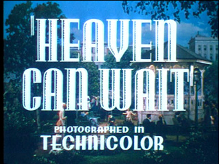 Heaven can wait trailer title