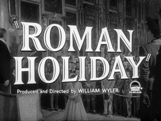 Roman holiday trailer title