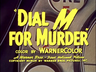 Dial m for murder trailer title
