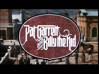 Pat Garett and Billy the kid trailer title
