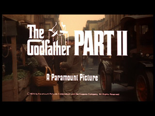 The godfather two movie trailer title